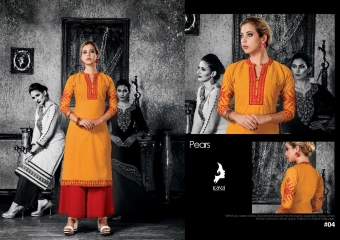 KAYA PEARS COTTON DESIGNER SLEEVE WORK WITH PINTEX KURTI CATALOG WHOLESALE BEST RATE BY GOSIYA EXPORTS SURAT (4)