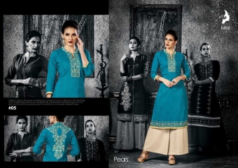 KAYA PEARS COTTON DESIGNER SLEEVE WORK WITH PINTEX KURTI CATALOG WHOLESALE BEST RATE BY GOSIYA EXPORTS SURAT (6)