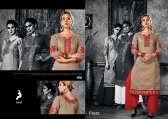 KAYA PEARS COTTON DESIGNER SLEEVE WORK WITH PINTEX KURTI CATALOG WHOLESALE BEST RATE BY GOSIYA EXPORTS SURAT (7)