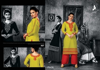 KAYA PEARS COTTON DESIGNER SLEEVE WORK WITH PINTEX KURTI CATALOG WHOLESALE BEST RATE BY GOSIYA EXPORTS SURAT (9)