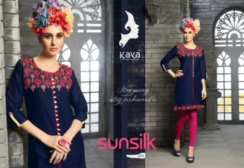 KAYA SUNSILK COTTON CAMBRIC LAWN COLLECTION KURTI WHOLESALE RATE BY GOSIYA EXPORTS ONLINE SURAT (1)