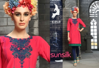 KAYA SUNSILK COTTON CAMBRIC LAWN COLLECTION KURTI WHOLESALE RATE BY GOSIYA EXPORTS ONLINE SURAT (11)