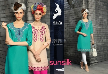 KAYA SUNSILK COTTON CAMBRIC LAWN COLLECTION KURTI WHOLESALE RATE BY GOSIYA EXPORTS ONLINE SURAT (3)