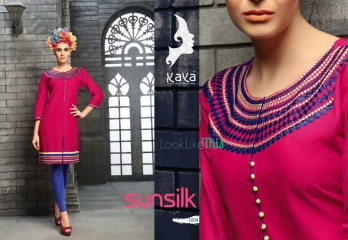 KAYA SUNSILK COTTON CAMBRIC LAWN COLLECTION KURTI WHOLESALE RATE BY GOSIYA EXPORTS ONLINE SURAT (4)
