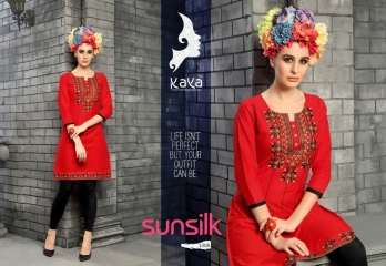 KAYA SUNSILK COTTON CAMBRIC LAWN COLLECTION KURTI WHOLESALE RATE BY GOSIYA EXPORTS ONLINE SURAT (8)