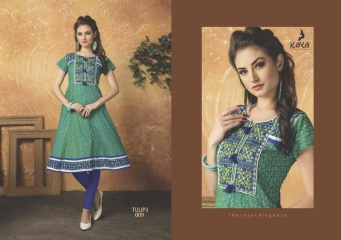 KAYA TULIP VOL 3 COTTON DESIGNER KURTI CATALOG WHOLESALE BEST RATE BY GOSIYA EXPORTS FROM SURAT (12)