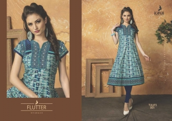 KAYA TULIP VOL 3 COTTON DESIGNER KURTI CATALOG WHOLESALE BEST RATE BY GOSIYA EXPORTS FROM SURAT (5)