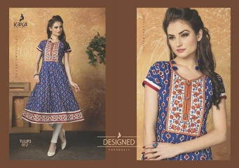 KAYA TULIP VOL 3 COTTON DESIGNER KURTI CATALOG WHOLESALE BEST RATE BY GOSIYA EXPORTS FROM SURAT (8)
