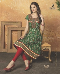 KAYA TULIP VOL 3 COTTON DESIGNER KURTI CATALOG WHOLESALE BEST RATE BY GOSIYA EXPORTS FROM SURAT