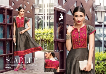 KAYA ZORA 7 CATALOG KORA SILK ANARKALI KURTIS COLLECTION WHOLESALER DEALER BEST RATE BY GOSIYA EXPORTS SURAT (2)