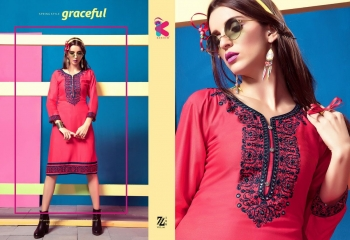 KEROSM ZARINA VOL 6 FANCY REYON KURTI CATLOG FROM WHOLESALE BEST RATE BY GOSIYA EXPORTS (22)