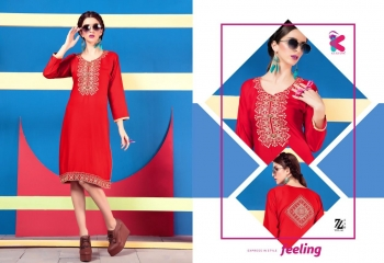 KEROSM ZARINA VOL 6 FANCY REYON KURTI CATLOG FROM WHOLESALE BEST RATE BY GOSIYA EXPORTS (24)