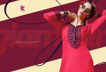 KEROSM ZARINA VOL 6 FANCY REYON KURTI CATLOG FROM WHOLESALE BEST RATE BY GOSIYA EXPORTS (34)