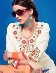 KEROSM ZARINA VOL 6 FANCY REYON KURTI CATLOG FROM WHOLESALE BEST RATE BY GOSIYA EXPORTS