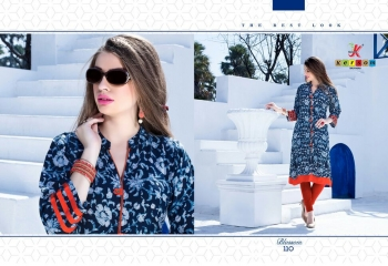 KERSOM BY BLOSSOM VOL 1 CASUAL WEAR RAYON PRINTED KURTI COLLECTION WHOLESALE BEST RAET BY GOSIYA EXPORTS SURAT (19)
