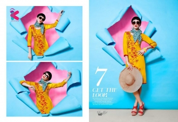 KERSOM DEEAM GIRL RAYON WITH WORK DESIGNER KURTI CATALOG WHOLESALE BEST RATE BY GOSIYA EXPORTS (10)