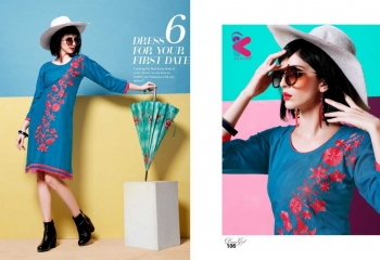 KERSOM DEEAM GIRL RAYON WITH WORK DESIGNER KURTI CATALOG WHOLESALE BEST RATE BY GOSIYA EXPORTS (11)
