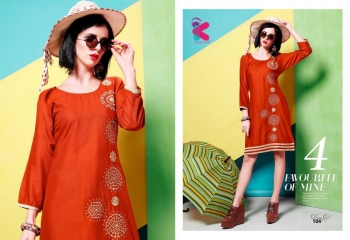 KERSOM DEEAM GIRL RAYON WITH WORK DESIGNER KURTI CATALOG WHOLESALE BEST RATE BY GOSIYA EXPORTS (13)