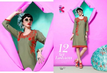 KERSOM DEEAM GIRL RAYON WITH WORK DESIGNER KURTI CATALOG WHOLESALE BEST RATE BY GOSIYA EXPORTS (18)