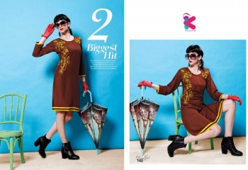 KERSOM DEEAM GIRL RAYON WITH WORK DESIGNER KURTI CATALOG WHOLESALE BEST RATE BY GOSIYA EXPORTS (5)