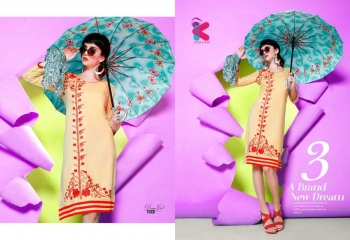 KERSOM DEEAM GIRL RAYON WITH WORK DESIGNER KURTI CATALOG WHOLESALE BEST RATE BY GOSIYA EXPORTS (7)