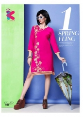 KERSOM DEEAM GIRL RAYON WITH WORK DESIGNER KURTI CATALOG WHOLESALE BEST RATE BY GOSIYA EXPORTS