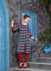 KERSOM SPLASH SATIN CHECKS STRAIGHT KURTI WHOLESALE KERSOM BY GOSIYA EXPORTS (3)