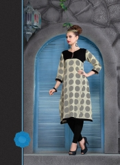 KERSOM SPLASH SATIN CHECKS STRAIGHT KURTI WHOLESALE KERSOM BY GOSIYA EXPORTS (4)