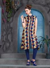 KERSOM SPLASH SATIN CHECKS STRAIGHT KURTI WHOLESALE KERSOM BY GOSIYA EXPORTS (6)