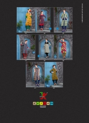 KERSOM SPLASH SATIN CHECKS STRAIGHT KURTI WHOLESALE KERSOM BY GOSIYA EXPORTS (8)