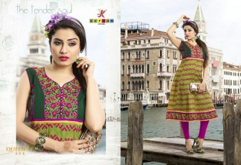 KESROM BY QUEEN VOL 4 CAMBRIC KURTI WHOLESALE BEST RATE SURAT BY KERSOM (4)