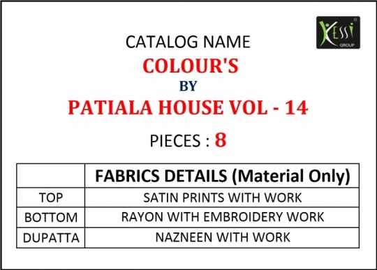 KESSI COLOURS PATIYALA HOUSE VOL 14  (12)