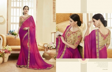 Kessi fabrics kalindi sarees collection BY GOSIYA EXPORTS SURAT (1)