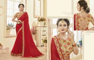 Kessi fabrics kalindi sarees collection BY GOSIYA EXPORTS SURAT (10)