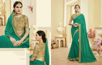 Kessi fabrics kalindi sarees collection BY GOSIYA EXPORTS SURAT (3)