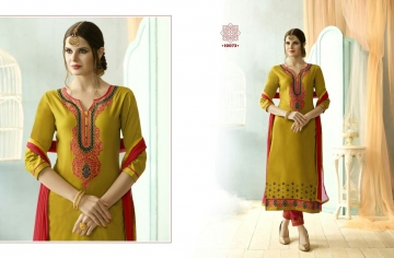 KESSI FABRICS SUNDRESS VOL 4 CATALOGUE COTTON EMBROIDERED SALWAR KAMEEZ WHOLESALE BEST RATE SUPPLIER BY GOSIYA EXP (4097)