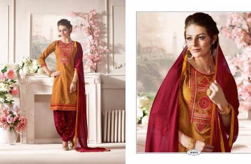 KESSI FABRICS SUNHERI VOL 3 CATALOG PURE CHANDERI PARTY WEAR SALWAR KAMEEZ (3)