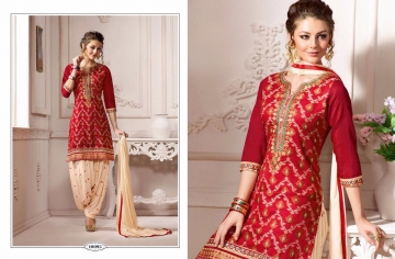 KESSI FABRICS SUNHERI VOL 3 CATALOG PURE CHANDERI PARTY WEAR SALWAR KAMEEZ (5)