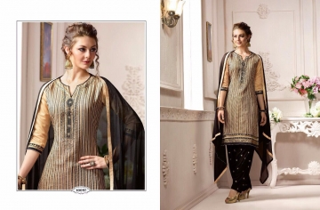 KESSI FABRICS SUNHERI VOL 3 CATALOG PURE CHANDERI PARTY WEAR SALWAR KAMEEZ (7)