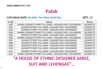 KESSI PALAK GEORGETTE DESIGNER SAREES CATALOG WHOLESALE RATE BEST BY GOSIYA EXPORTS SURAT (10)