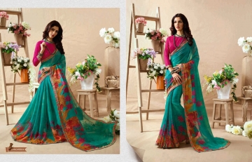 KESSI PALAK GEORGETTE DESIGNER SAREES CATALOG WHOLESALE RATE BEST BY GOSIYA EXPORTS SURAT (5)