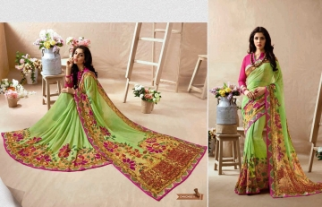 KESSI PALAK GEORGETTE DESIGNER SAREES CATALOG WHOLESALE RATE BEST BY GOSIYA EXPORTS SURAT (8)