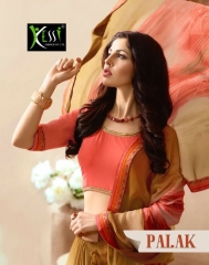 KESSI PALAK GEORGETTE DESIGNER SAREES CATALOG WHOLESALE RATE BEST BY GOSIYA EXPORTS SURAT