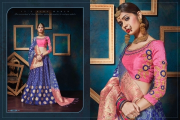 KIANAA KASAK BANRASI JACQUARD FANCY LEHENGA CATALOG IN WHOLESALE BEST RATE BY GOSIYA EXPORTS SURAT (12)