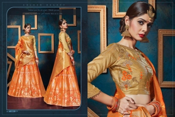 KIANAA KASAK BANRASI JACQUARD FANCY LEHENGA CATALOG IN WHOLESALE BEST RATE BY GOSIYA EXPORTS SURAT (15)