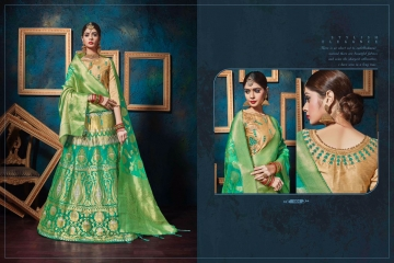 KIANAA KASAK BANRASI JACQUARD FANCY LEHENGA CATALOG IN WHOLESALE BEST RATE BY GOSIYA EXPORTS SURAT (16)