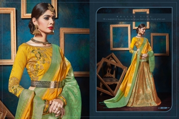 KIANAA KASAK BANRASI JACQUARD FANCY LEHENGA CATALOG IN WHOLESALE BEST RATE BY GOSIYA EXPORTS SURAT (17)