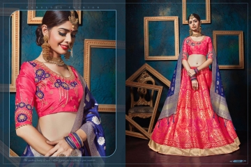 KIANAA KASAK BANRASI JACQUARD FANCY LEHENGA CATALOG IN WHOLESALE BEST RATE BY GOSIYA EXPORTS SURAT (19)