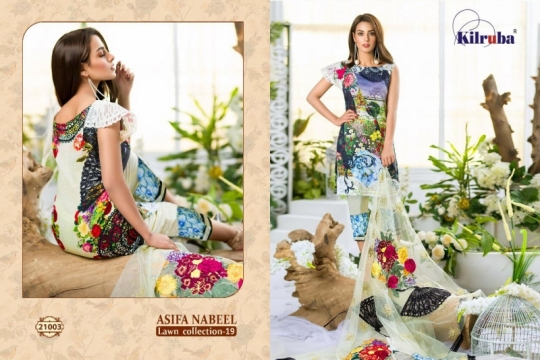 KILRUBA ASIFA NABEEL LAWN COLLECTION 19 COTTON PAKISTANI CONCEPT OF SUITS WHOLESALE DEALER BEST RATE BY GOSIYA EXPORTS SURAT (6)