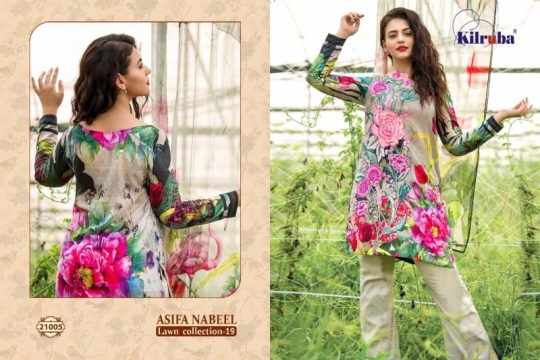 KILRUBA ASIFA NABEEL LAWN COLLECTION 19 COTTON PAKISTANI CONCEPT OF SUITS WHOLESALE DEALER BEST RATE BY GOSIYA EXPORTS SURAT (7)